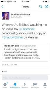 Amelia Eisenhauer retweets about ShadowShifter