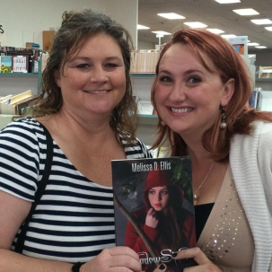 Sharon Condor gets a signed copy of SHADOWSHIFTER from Melissa!